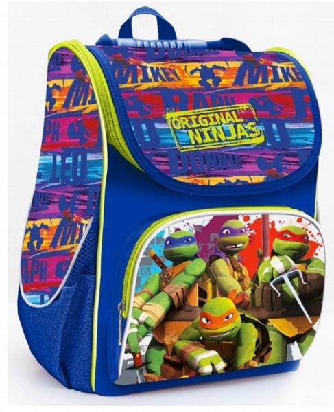 """Ранець шк. 1Вересня """"Ninja turtles"""" Н-11 34*26*14см   Артикул: 14552739"""
