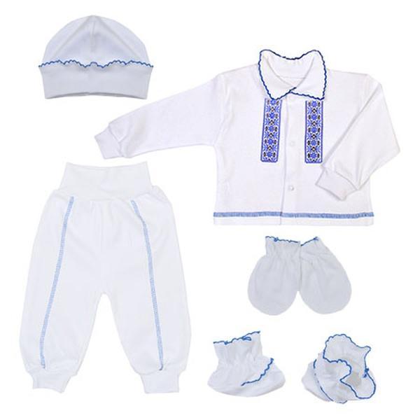 Костюм для хлопчика Національний (кофта, брюки, шапка, пінетки, рукавички), 62 (11369.06.62)   Артикул: 14690662