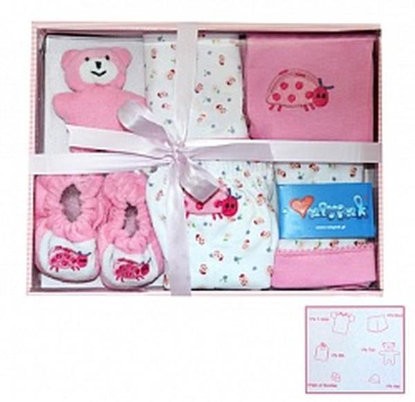 Комплект подарочный 6 пр. в упаковке розовый хлопок -44 см   Артикул: 14750744