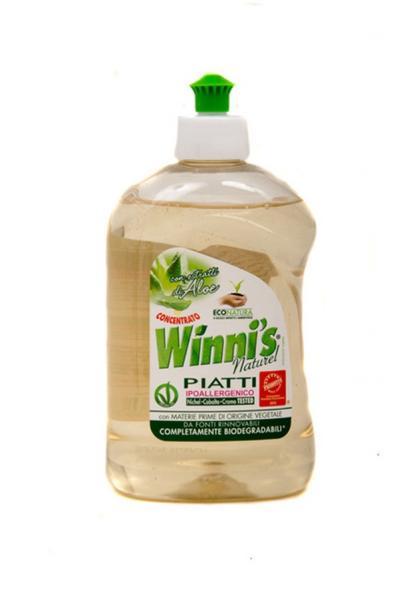 Екологічно чистий концентрований засіб для миття посуду на рослиній основі, Алое (16pz)¶   Артикул: 17020080