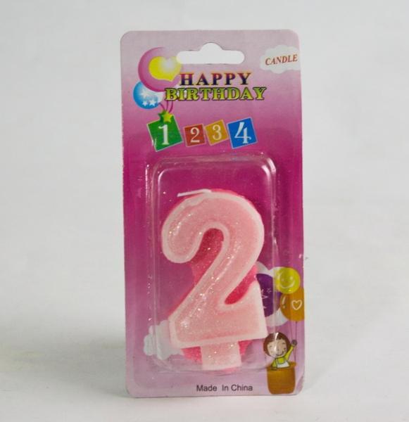 Свечи  цифры  (в торт) № 2-21 цветные №2   Артикул: 19002212