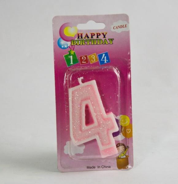 Свечи  цифры  (в торт) № 2-21 цветные №4   Артикул: 19002214