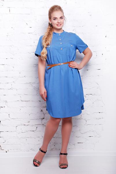 Платье голубое джинсовое  ДЖИНА