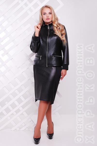b5d36f94e9fe Костюм комбинированный черный МИЛАН - Блузки и туники женские на рынке  Барабашова