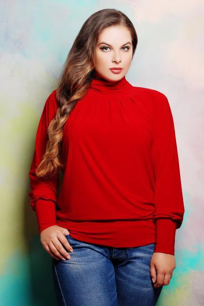 Гольф со сборкой цвет красный  СБОРКА