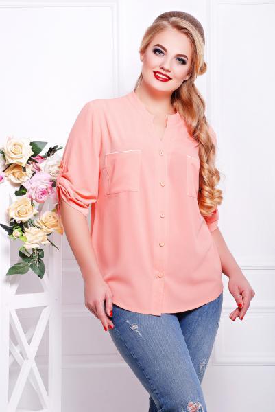Рубашка с кружевом розовая  МИЛА