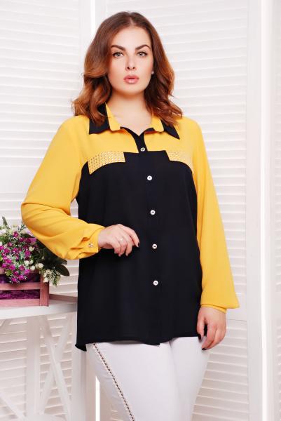 Рубашка с декором цвет желтый  ВЕНДИ