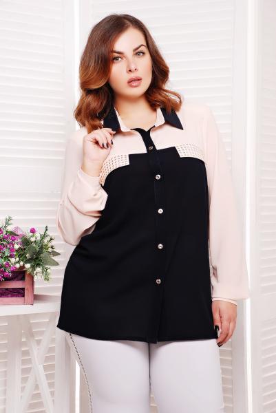Рубашка с декором цвет розовый  ВЕНДИ