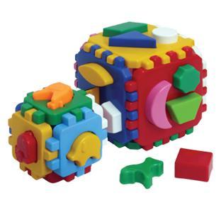 "куб ""розумний малюк 1+1""  1/15"