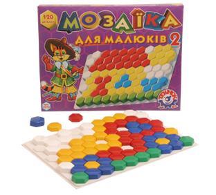 """іграшка пластмасова """"мозаїка для малюків 2 """" (120 елементів) 1/10"""