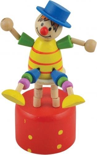 дергунчик-клоун на стільці