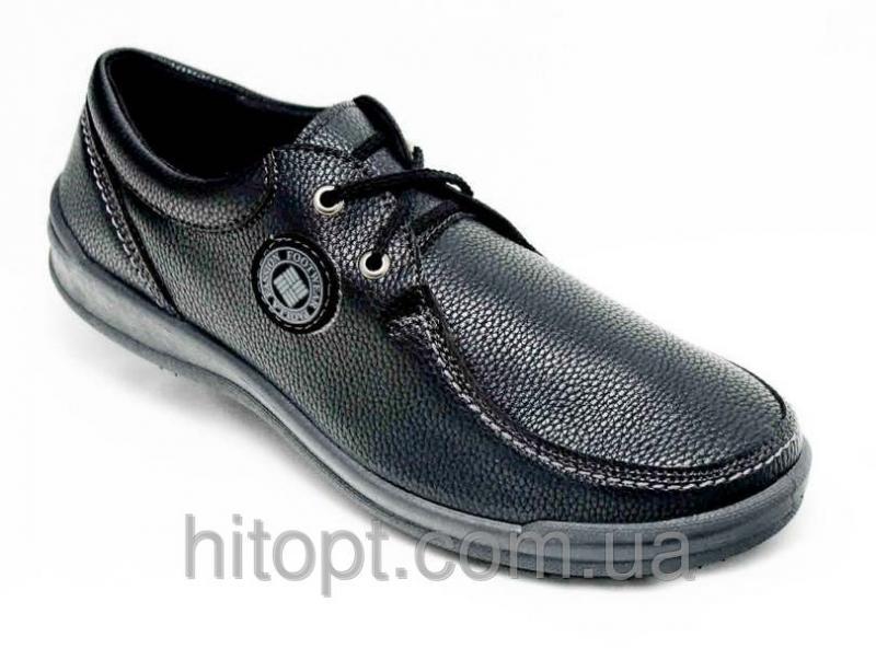 Paolla N-33чёрный, мужской туфель на шнурке,