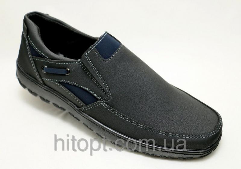 Roksol Т-4с чёрный нубук, туфель на резинке