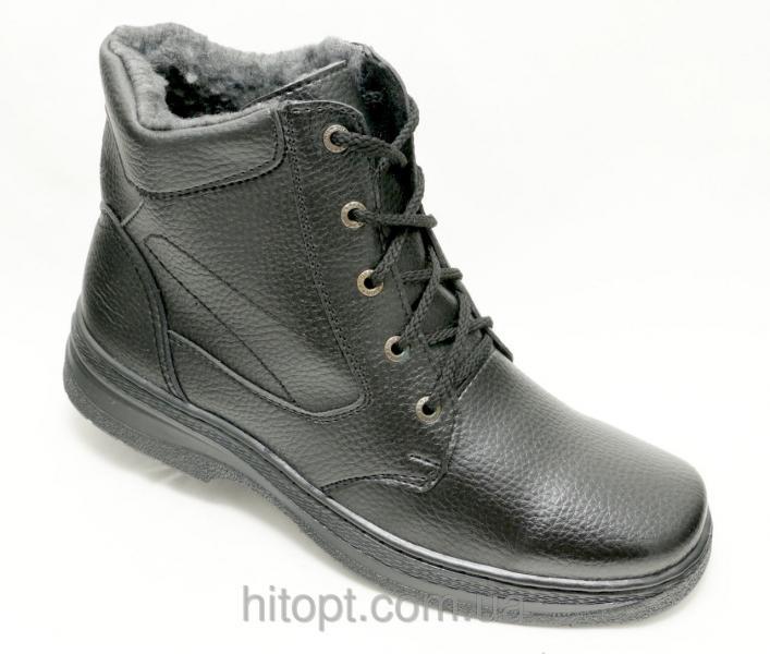 Lika Б-7 чёрный ботинок шнурок-змейка