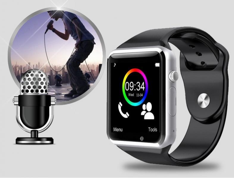 А1 Умные Смарт Часы Bluetooth Слот под сим карту Видео камера Шагомер