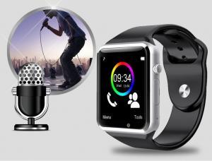 Фото  А1 Умные Смарт Часы Bluetooth Слот под сим карту Видео камера Шагомер