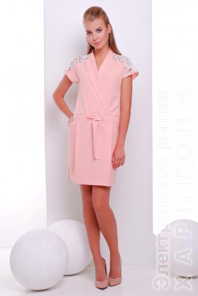 93fb97b1650 Платье с кулиской цвет персиковый DREAM - Платья