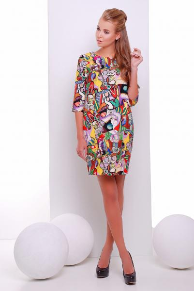 Платье с абстрактный принтом  PICASSO