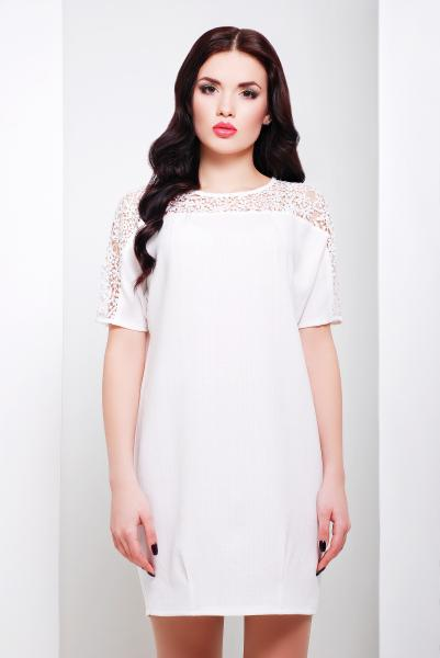 Платье прямое белого цвета  ЗАРА
