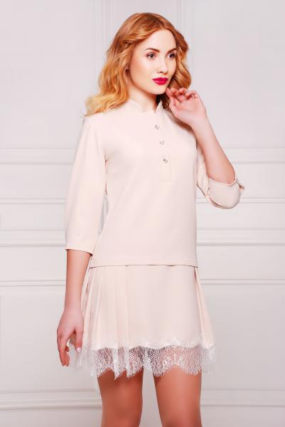 Платье с кружевом цвет молочный  НЭО