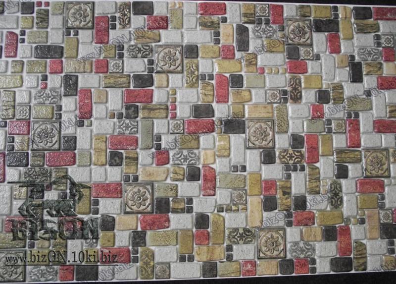 Фото Листовые панели ПВХ Мозаика «ТРАВЕРТИН КОРИЦА»   Листовые панели ПВХ
