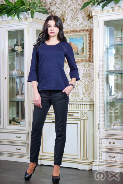 aac65737c7c Блуза из стеганного трикотажа цвет темно-синий МИЛЕНА - Блузки и туники  женские на рынке Барабашова