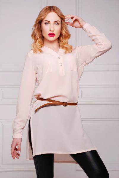 Рубашка -платье цвет молочный  РИКО