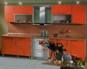 Фото  Кухня с фасадами из ДСП