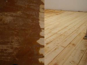 Фото  Шлифовка деревянного пола