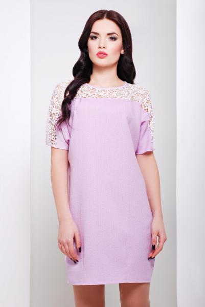 Платье прямого силуэта ЗАРА розовое