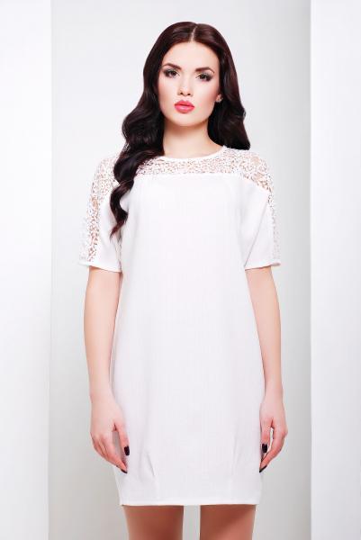 Платье прямого силуэта ЗАРА белое