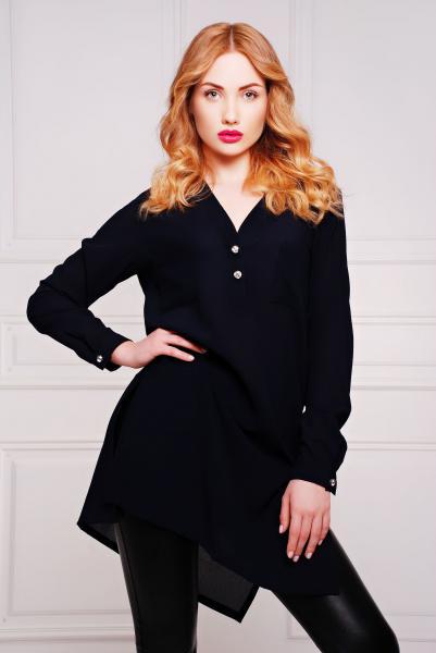 Рубашка-платье НЭО темно-синяя