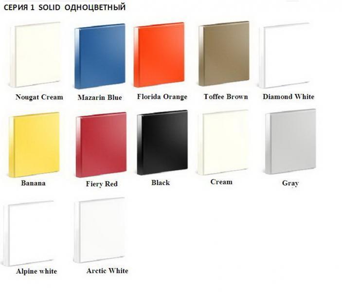 Выбор цвета Искусственного камня LG HI-MACS (ассортимент)