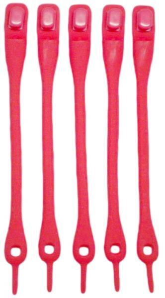 Силиконовые шнурки для обуви (Красные)