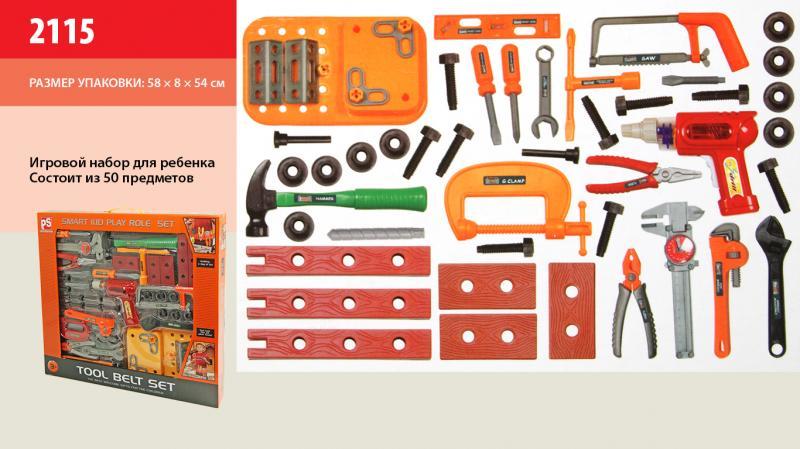 Набор инструментов 2115 8шт дрель, отвертки, плоскогубцы, в коробке 58854см