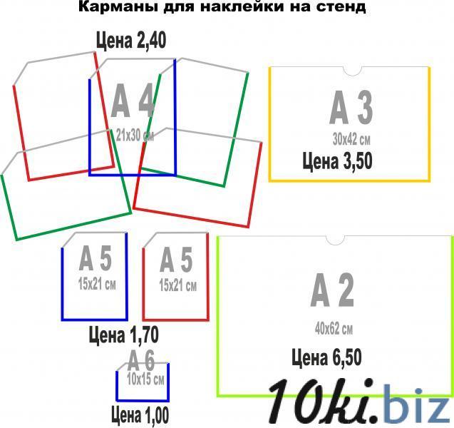 Карманы из прозрачного ПВХ пластика купить в Беларуси - Информационные стенды