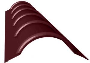 Фото Кровельные системы, Кровильная система МеталлПрофиль, Элементы отделки Металл Профиль, Планка круглого конька R110х2000 Планка конька круглого PRISMA