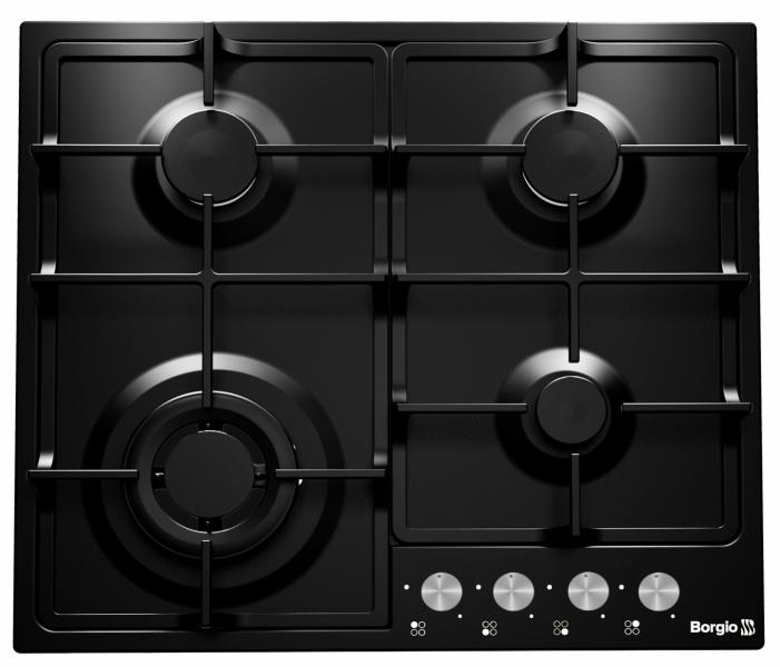 Варочная поверхность газовая BORGIO 6741/17 Black Enamelled
