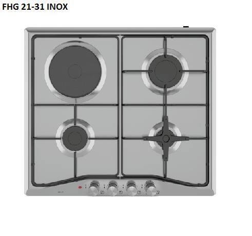 Варочная поверхность комбинированная Fabiano FHG 21-31 Inox