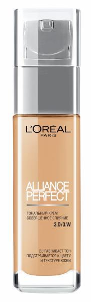 Тональный крем Alliance Perfect D3 Светло-бежевый золотистый от Loreal