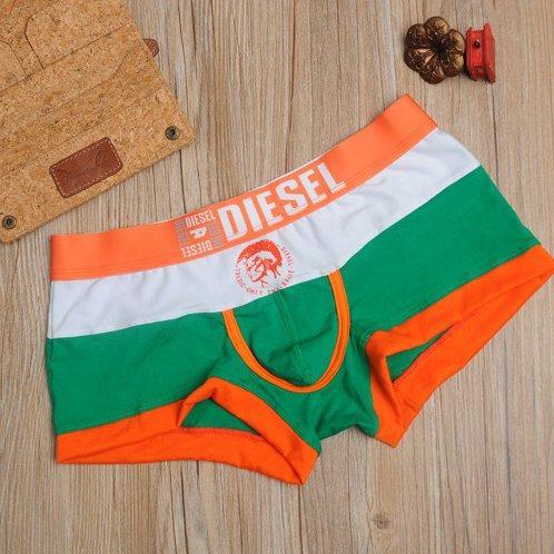 трусы Diesel боксёры зелёная полоса
