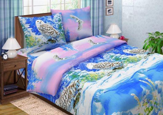 Постельное белье поплин * Полярная сова*
