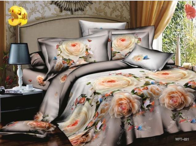 Постельное белье * Белые розы* поплин