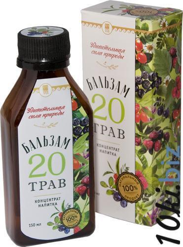 Бальзам 20 ТРАВ. Концентрат напитка  Витамины, витаминные комплексы в Самаре