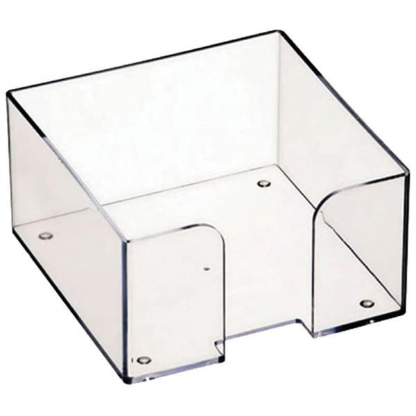 Бокс для бумажного блока 9х9х5 мм, прозрачный