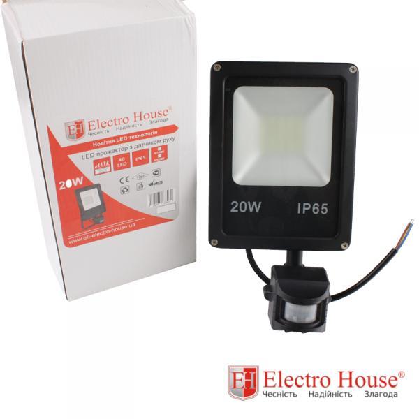 LED прожектор с датчиком движения 20W ElectroHouse EH-LP-212