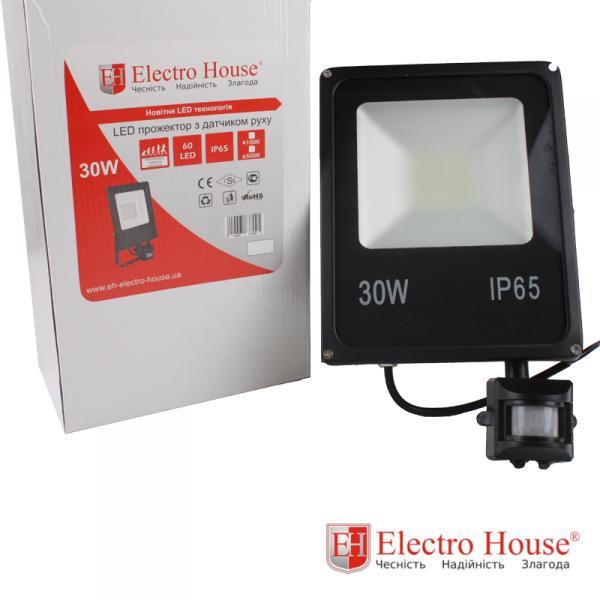 LED прожектор с датчиком движения 30W ElectroHouse EH-LP-213