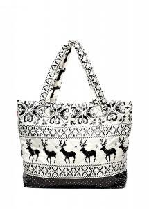 Фото СТЕГАНЫЕ СУМКИ POOLPARTY Дутая сумка POOLPARTY с оленями