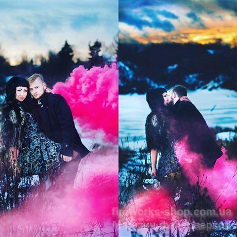 Фото Цветные дымы ДЫМ МАЛИНОВЫЙ
