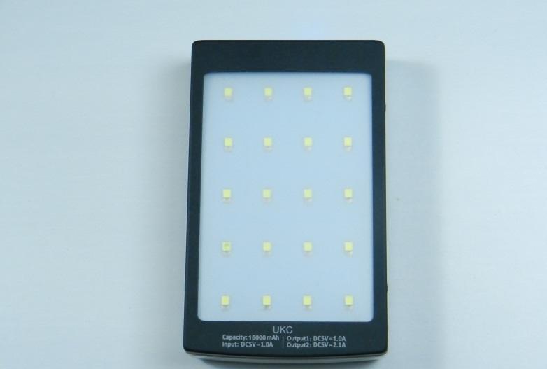 Power Bank Solar Charger 15000 mAh LED зарядное устройство с фонарём